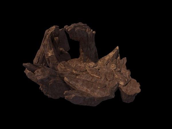 3D model stone rock mountain