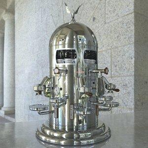 elektra coffee machine 3D