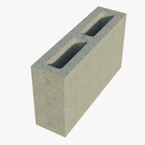 14x4x8 cinder block 1 model