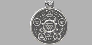 3D model witcher medalion
