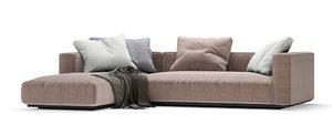 3D grandemare sofa flexform 270x205
