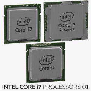 3D model intel core i7 processors