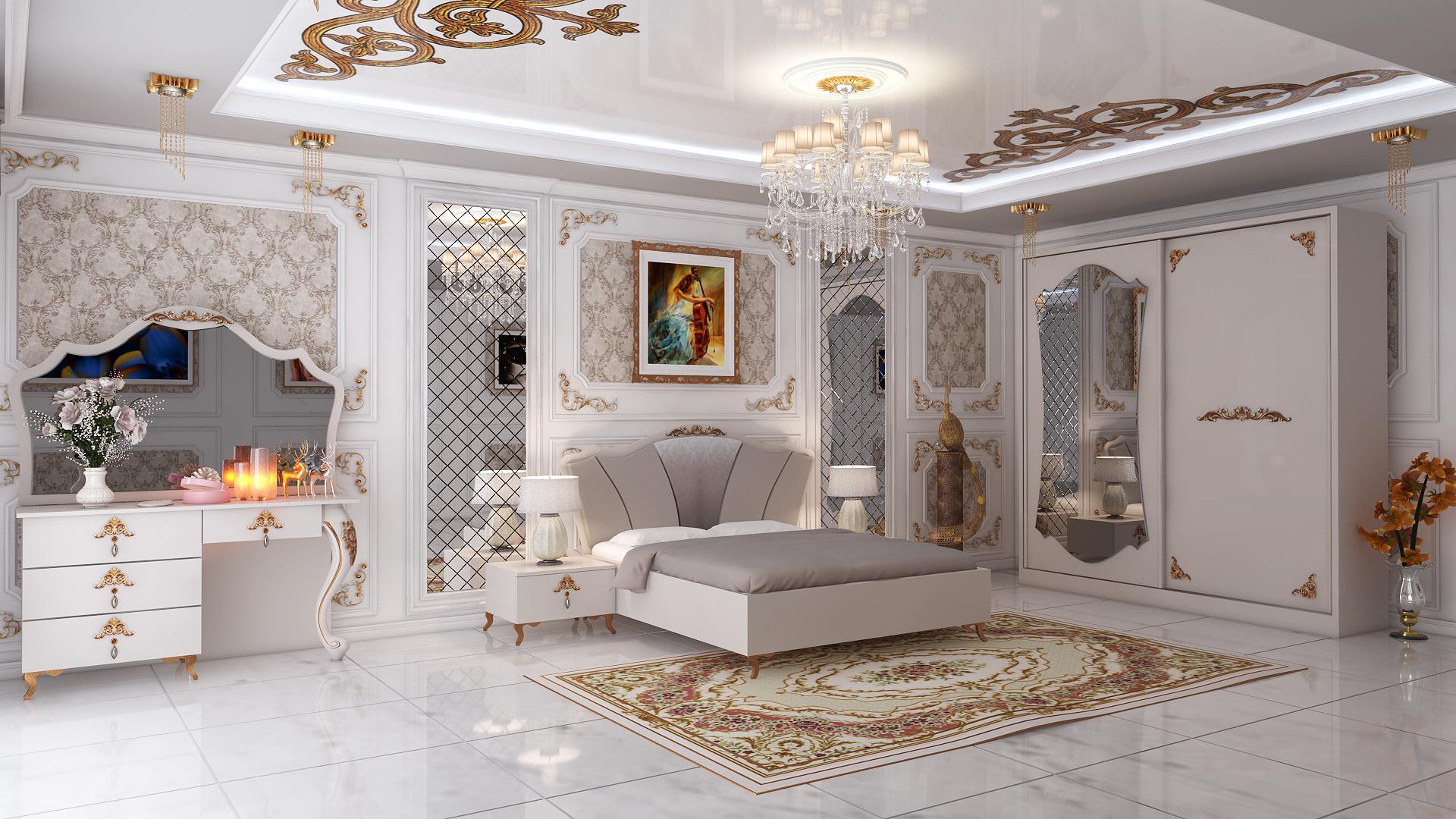 Bedroom interior design 3D model - TurboSquid 1491374