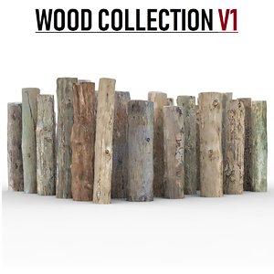 3D model wood pack