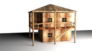 house bamboo model
