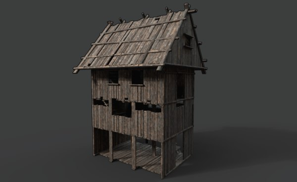 wooden scouttower 3D model