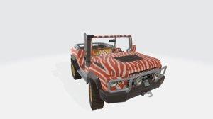 3D horizon safari car orange
