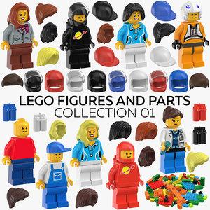 3D lego figures parts