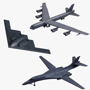 bombers usaf 3D model