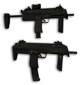 hk mp7-a1 mp7-a2 submachine gun 3D model