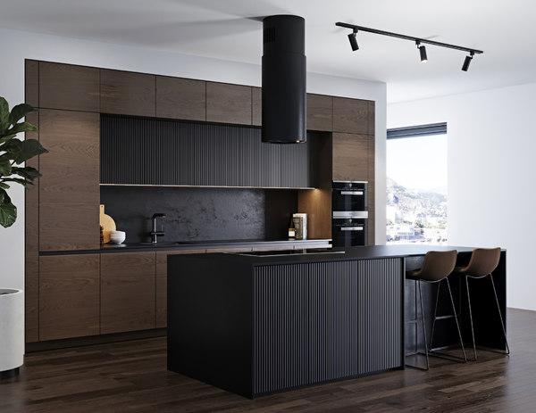 modern kitchen 4 miele 3D model