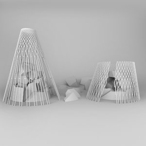 pavilions designed outdoor 3D model