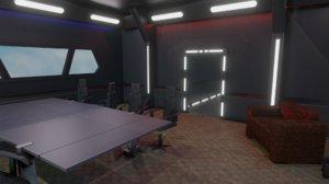 3D interior conference room furniture