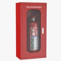 3D extinguisher box model