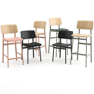 loft chair muuto stool bar 3D model