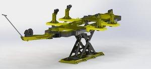 3D car chassis repair model