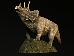 3D triceratops