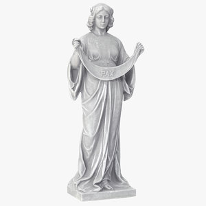 3D model woman bunting statue v2