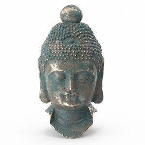 3D statue head