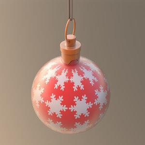 christmas ornament ball snow 3D