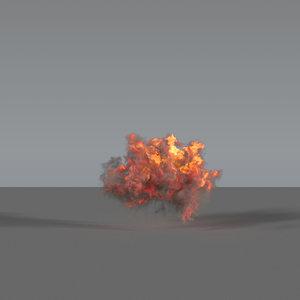 3D explosion - vdb model