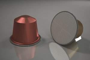 nespresso coffee capsule 3D