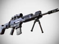 FN SCAR - H SV Sniper Rifle - Highly Detailed - PBR - 3D Model