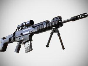 fn scar sv sniper 3D model