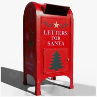 present santa post box 3D model