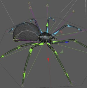 scary spider 3D model
