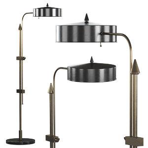 abram brass floor lamp 3D model