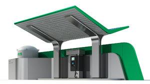 hydrogen gas station model