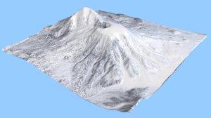 volcano vulkan tolbachikskiy 3D model