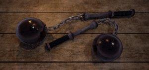fantasy medieval ball flail 3D model
