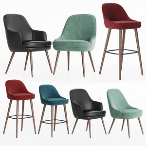 375 walter knoll chairs 3D model