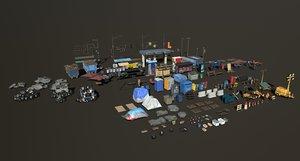 post apocalyptic 3D model