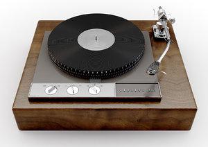 401 vintage turntable 3D