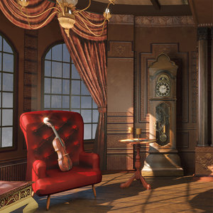 old mansion scene 3D model