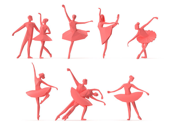 ballerina people 3D model