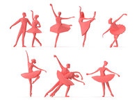 Low Poly Posed People Pack 19 - Ballet and Ballerina