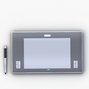 3D wacom tablet pen model