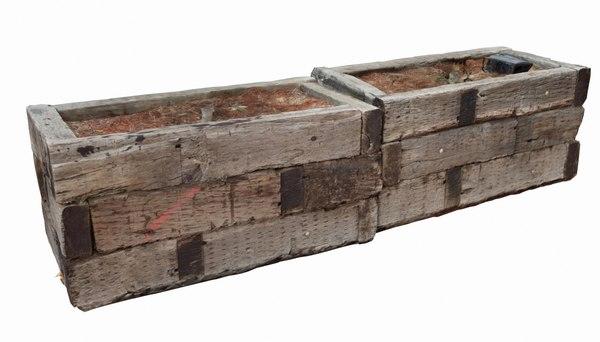 wood planter boxes 3D