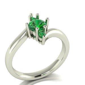 3D female ring gem simple