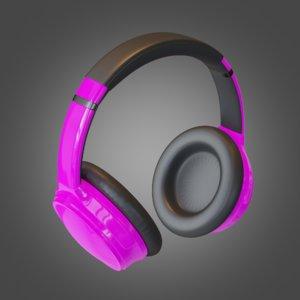 subdivision headphone purple 3D