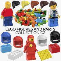 3D model lego figures parts 02