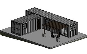 3D shipping container - small