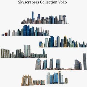 skyscrapers 6 building 3D