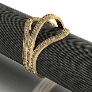 luxury female engagement ring model