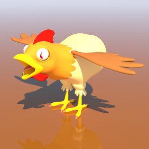 chicken rigged 3D model