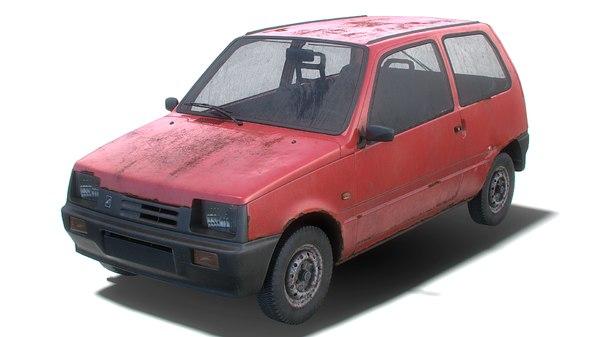 old generic hatchback model